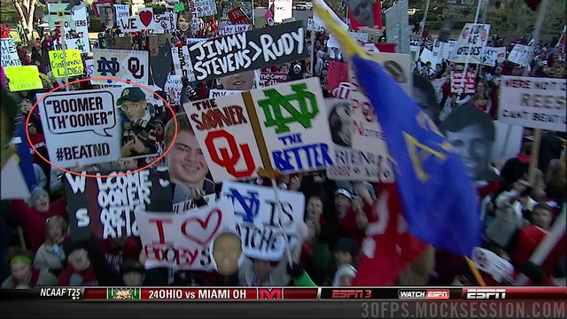 """Notre Dame Is Probably Going To Lose"": Your Roundup Of The Best Signs Behind The College Gameday Crew"