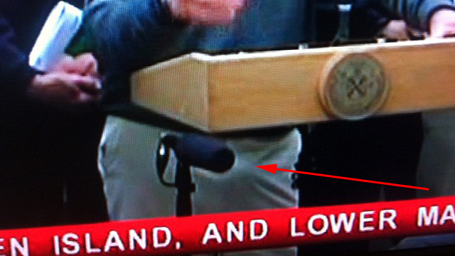 Did Bloomberg Have a Boner at His Hurricane Sandy Press Conference?