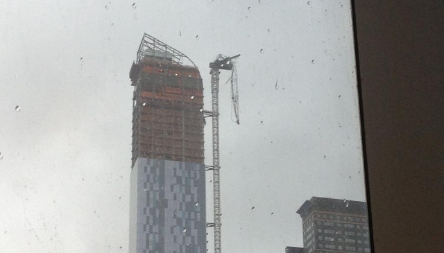 A Crane Outside Piers Morgan's Office Just Snapped And Is Now Dangling Over West 57th Street [UPDATE x3: Now with Video]