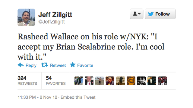 Rasheed Wallace Proudly Declares Himself The New Brian Scalabrine