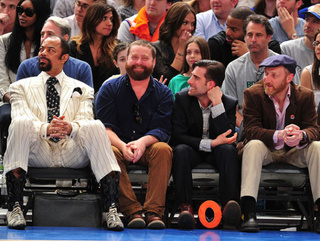 Here Is A Picture Of Zach Galifianakis Stoned At A Knicks Game