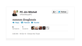 You Can Lead a Cop to Twitter, But You Can't Force Him to Not Tweet About Doughnuts