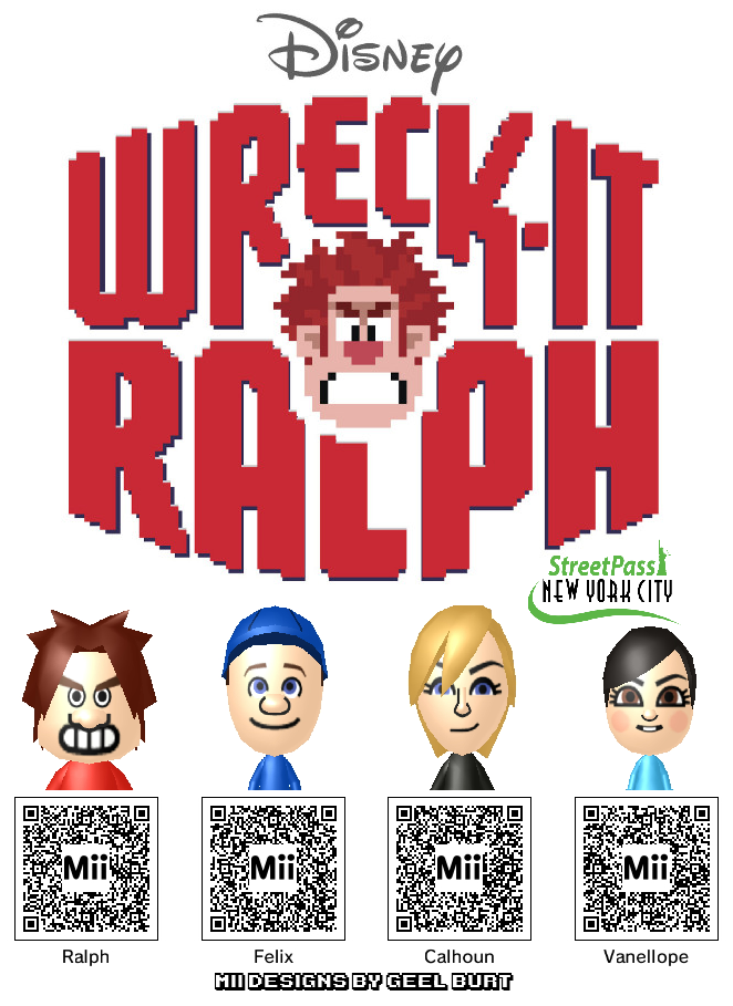 medium Bring Wreck It Ralph to Your 3DS With These Mii Codes