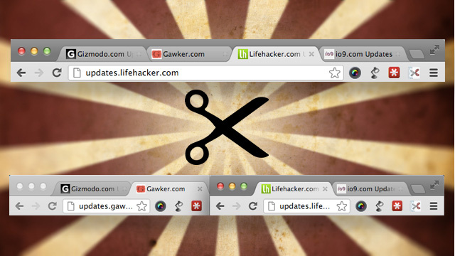 Tab Scissors Divides Your Chrome Tabs