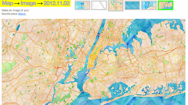 Map->Image Creates Cool Map-Based Desktop Wallpapers
