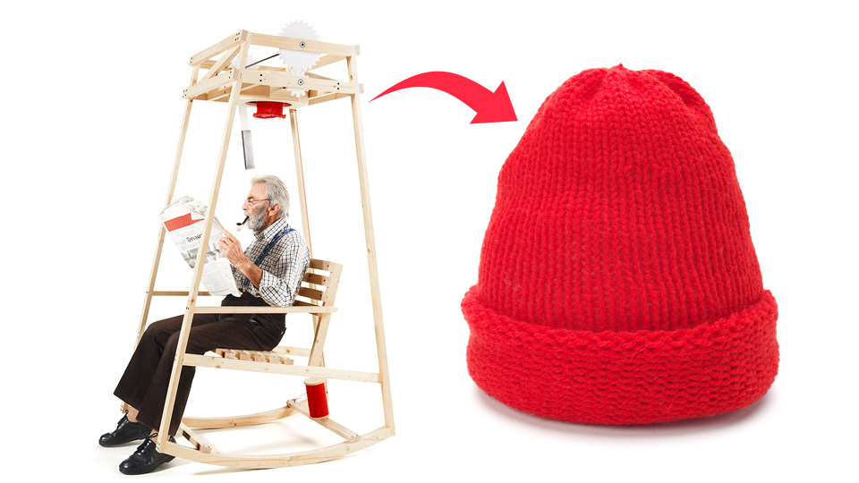 Click here to read This Rocking Chair Knits a Wool Cap While You Kick Back and Relax