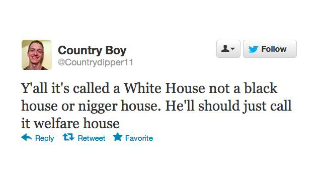 Twitter Racists React to 'That Nigger' Getting Reelected