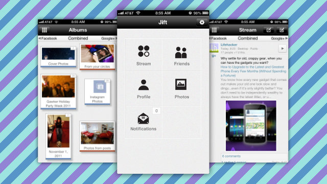 Jift Combines Facebook and Google+ on Your iPhone