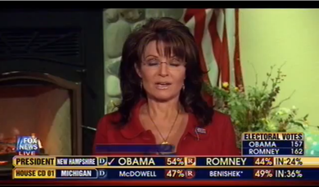Sarah Palin is Confused and Upset and Wearing Frosted Lipstick For Some Reason