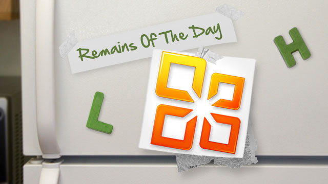 Remains of the Day: Microsoft Office Mobile Revealed