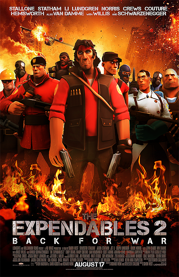 movie posters recreated using team fortress 2 because why
