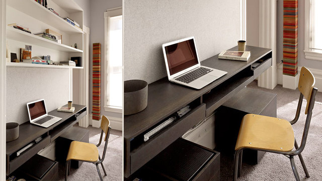 The Integrated Wood Desk Workspace