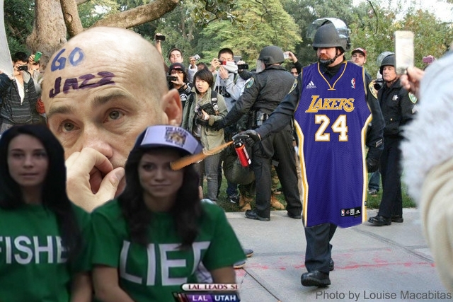 An Angry Lakers Fan Reportedly Pepper-Sprayed A Jazz Fan