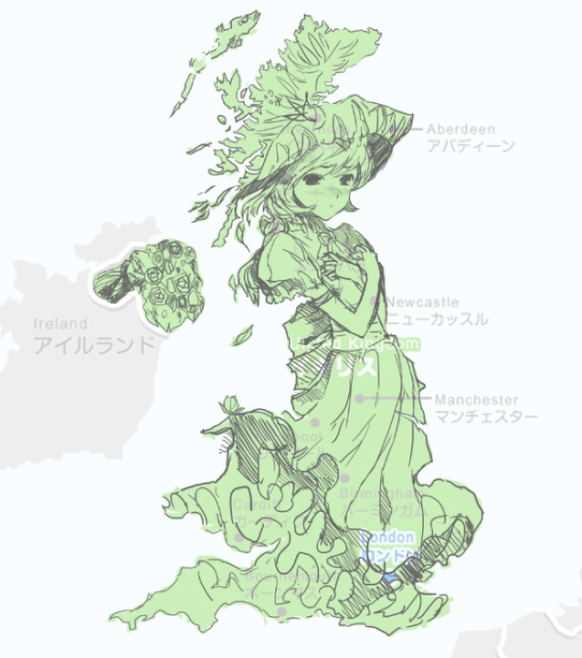 How Japan Turned the United Kingdom into a Cute Anime Girl