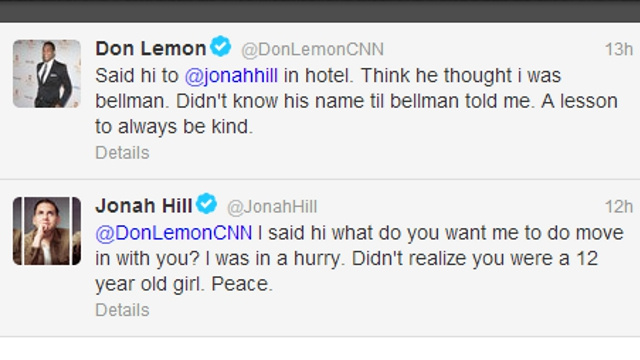 Jonah Hill and CNN's Don Lemon Paw at Each Other in Catty Twitter Spat (UPDATE)