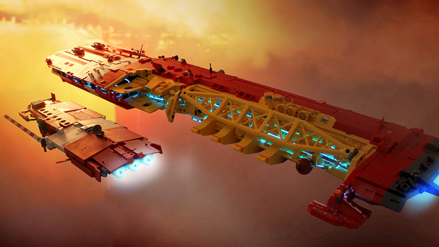 This Lego Tesseract Starship Is Worth Its Own TV Miniseries