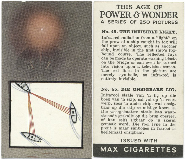 Vintage Art Deco cigarette cards celebrate your great-grandparents' romance with science