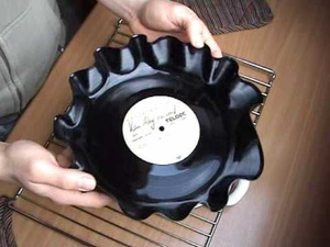 Make a Serving Bowl from a Vinyl Record