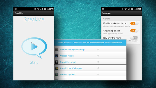 SpeakMe for Android Speaks Notifications Aloud, Lets You Choose Which Apps Get to Talk