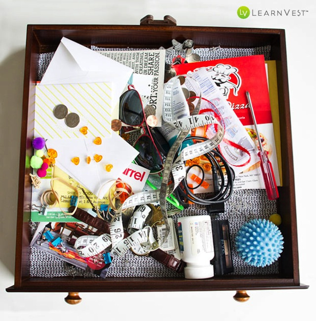 Organize Your Junk Drawer with Stuff You Already Have Around the House