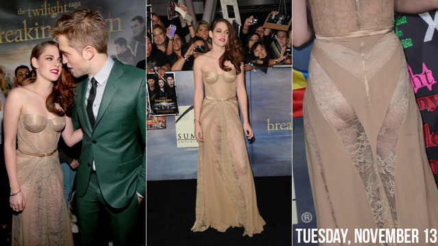 Kristen Stewart Celebrated the Final Twilight Movie With a See-Through Dress and Robert Pattinson
