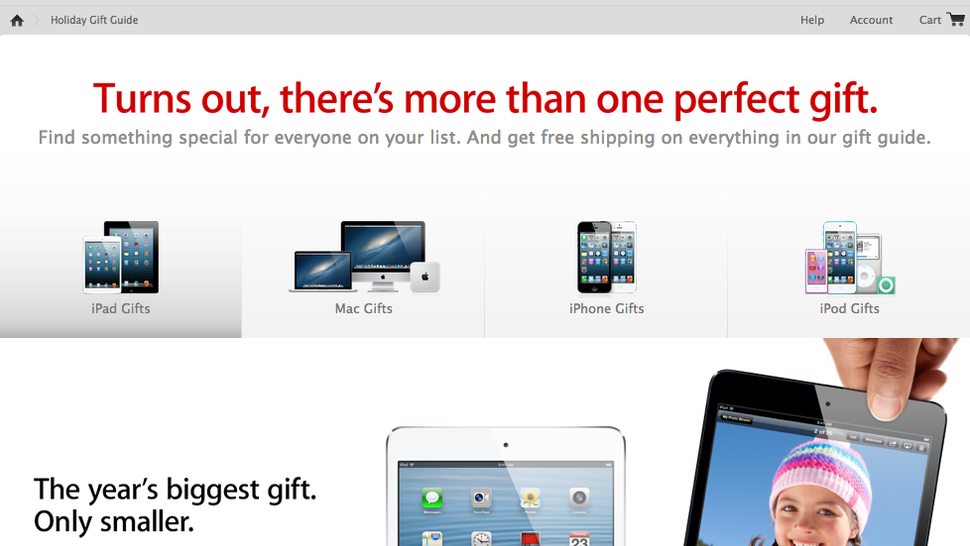Seriously Though, Apple's Gift Guide Is Just the Apple Store