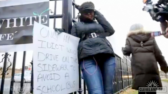 This Is The Woman Caught Driving Around A School Bus Holding Her 'Idiot' Sign