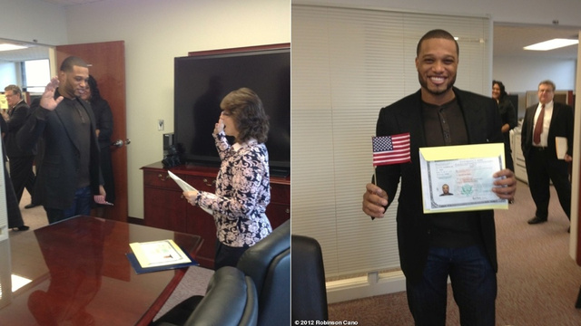 Robinson Cano Is Now An American Citizen