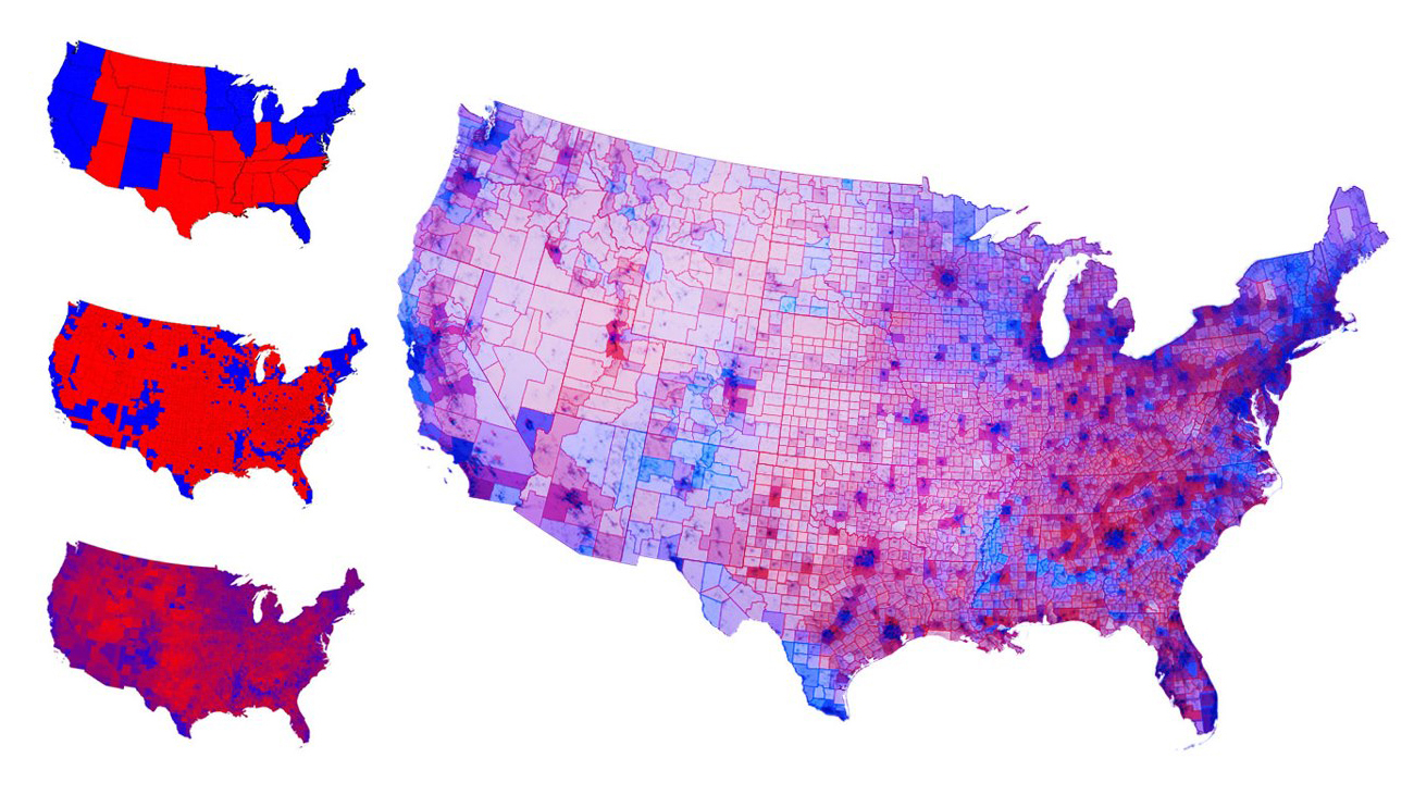 Maps Of The Presidential Election Graph Graph - Us presidential election red blue map