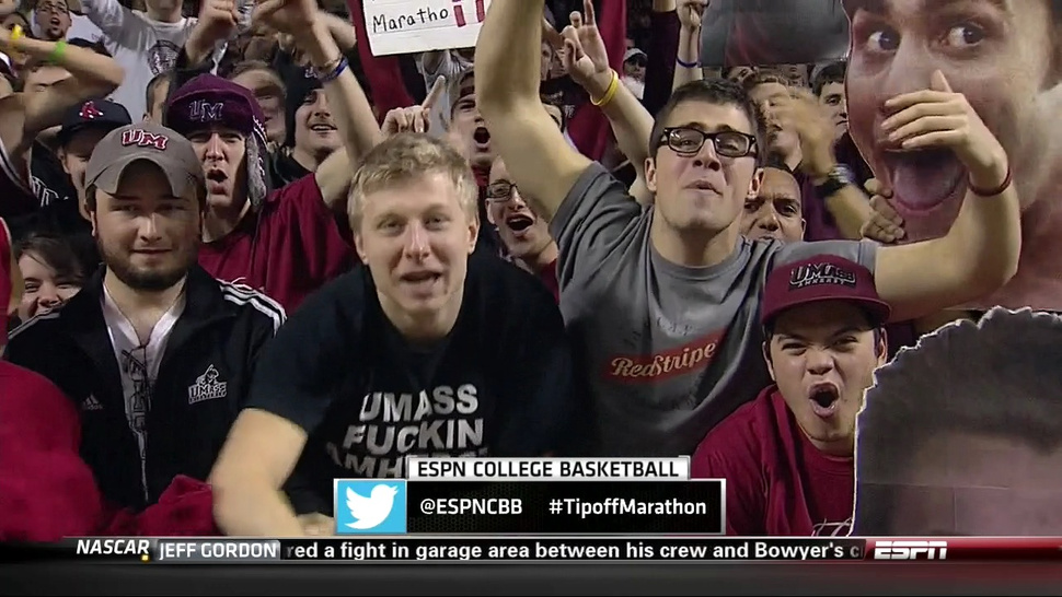 "The Era Of Profane T-Shirts On TV Continues As Minutemen Fan's ""UMass Fuckin Amherst"" Shirt Finds ESPN Camera"