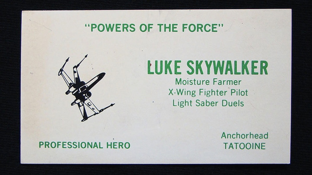 If Star Wars Characters Had Business Card, They Would Look Like This