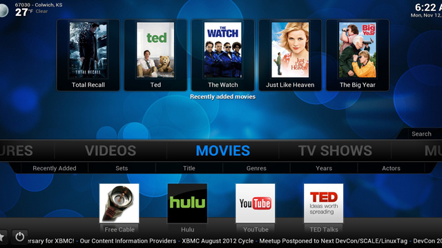 XBMC 12.0 Frodo Beta Brings Live TV, PVR Support, and More to Your Media Center
