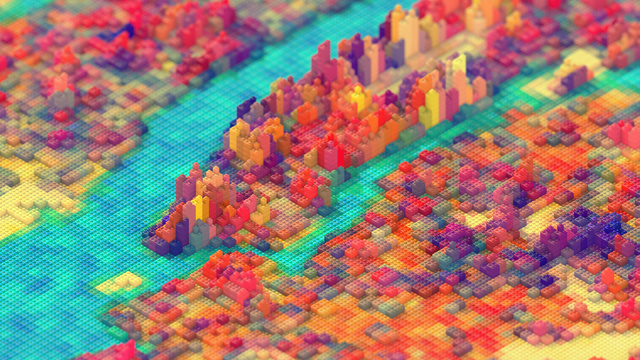 This dude recreated a scale model of New York City. With LEGO.