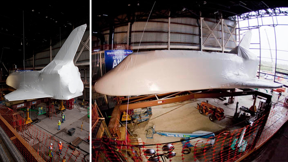 Click here to read This Is What a Shrink-Wrapped Space Shuttle Looks Like