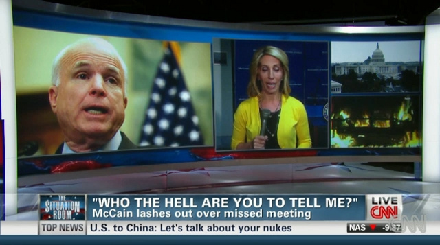 John McCain Explodes After CNN Reporter Asks Him Why He Didn't Attend Benghazi Briefing: 'Who the Hell Are You?'