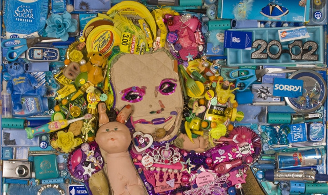 Here's a Giant Portrait of Honey Boo Boo Made Entirely Out of Recycled Trash