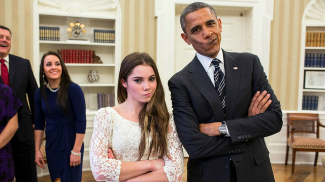 POTUS And McKayla Maroney Dare You To Impress Them