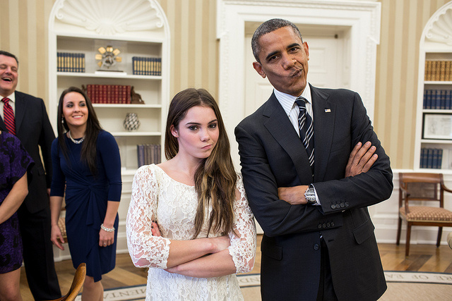 We Are Impressed With These Expressions By McKayla Maroney And Barack Obama