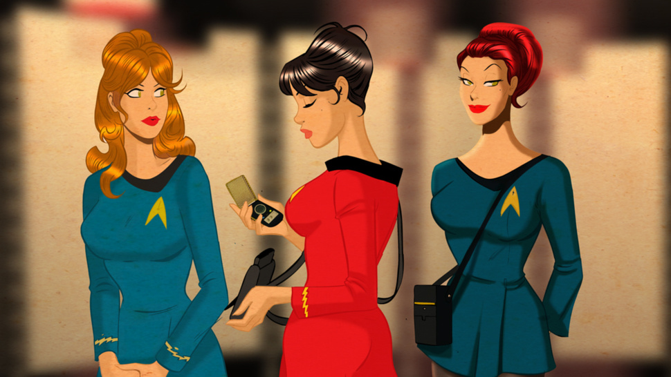 Sci-Fi pin-ups smolder in original Star Trek uniforms