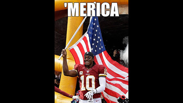 "ESPN Posts Robert Griffin III ""'Merica"" Meme To Facebook, Enrages Facebook Users"