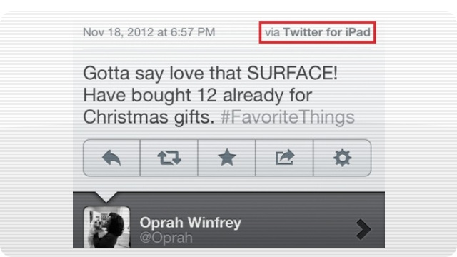 Oprah's Surface Raves Are Coming From an iPad