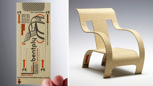 This Brilliant Business Card Transforms into a Tiny Chair