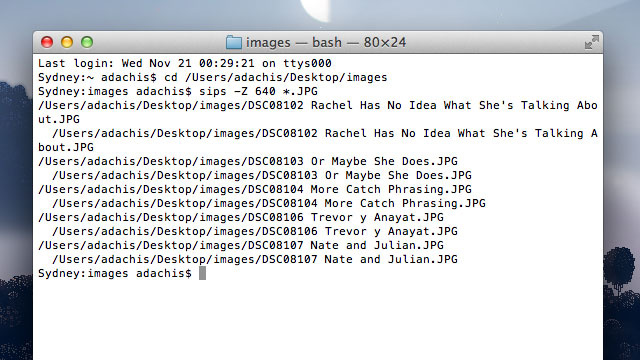 Batch Resize Images Quickly in the OS X Terminal