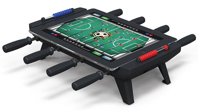 New toy converts iPad into foosball table