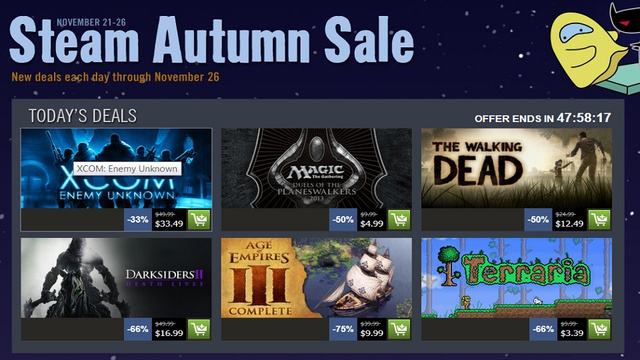 Steam's Autumn Sale Has Begun