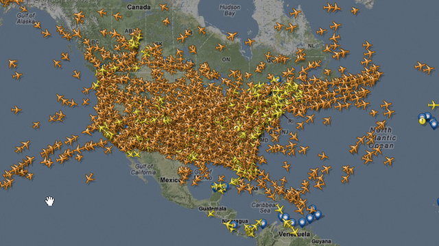 This Insane Image Shows How Many Planes Are In The Air