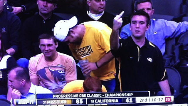 This Is How A Mizzou Fan Celebrates A 24-Point Lead