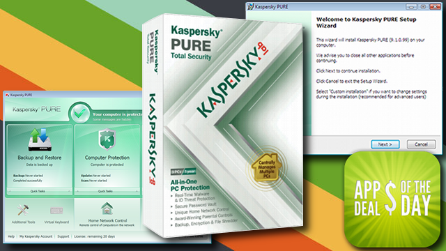 Daily App Deals: Kaspersky PURE Total Security Free with Rebate