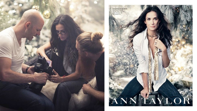 Demi Moore Is The Face Of Ann Taylor