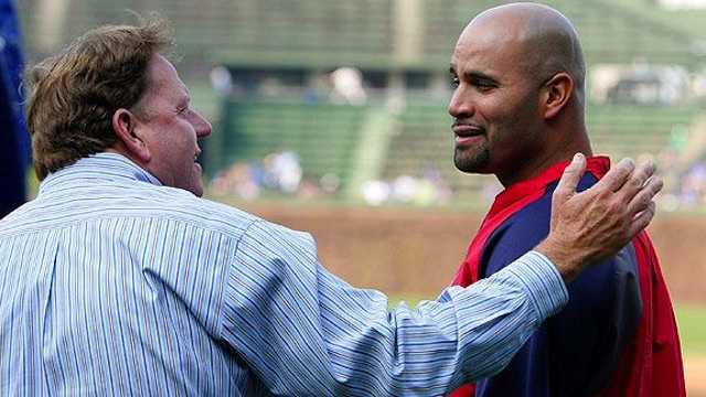 Albert Pujols Hugs Jim Hendry: A Photoplay In 10 Parts